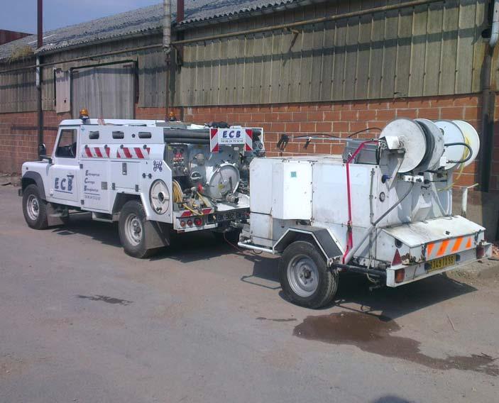 camion de Dégorgement de canalisation haute pression