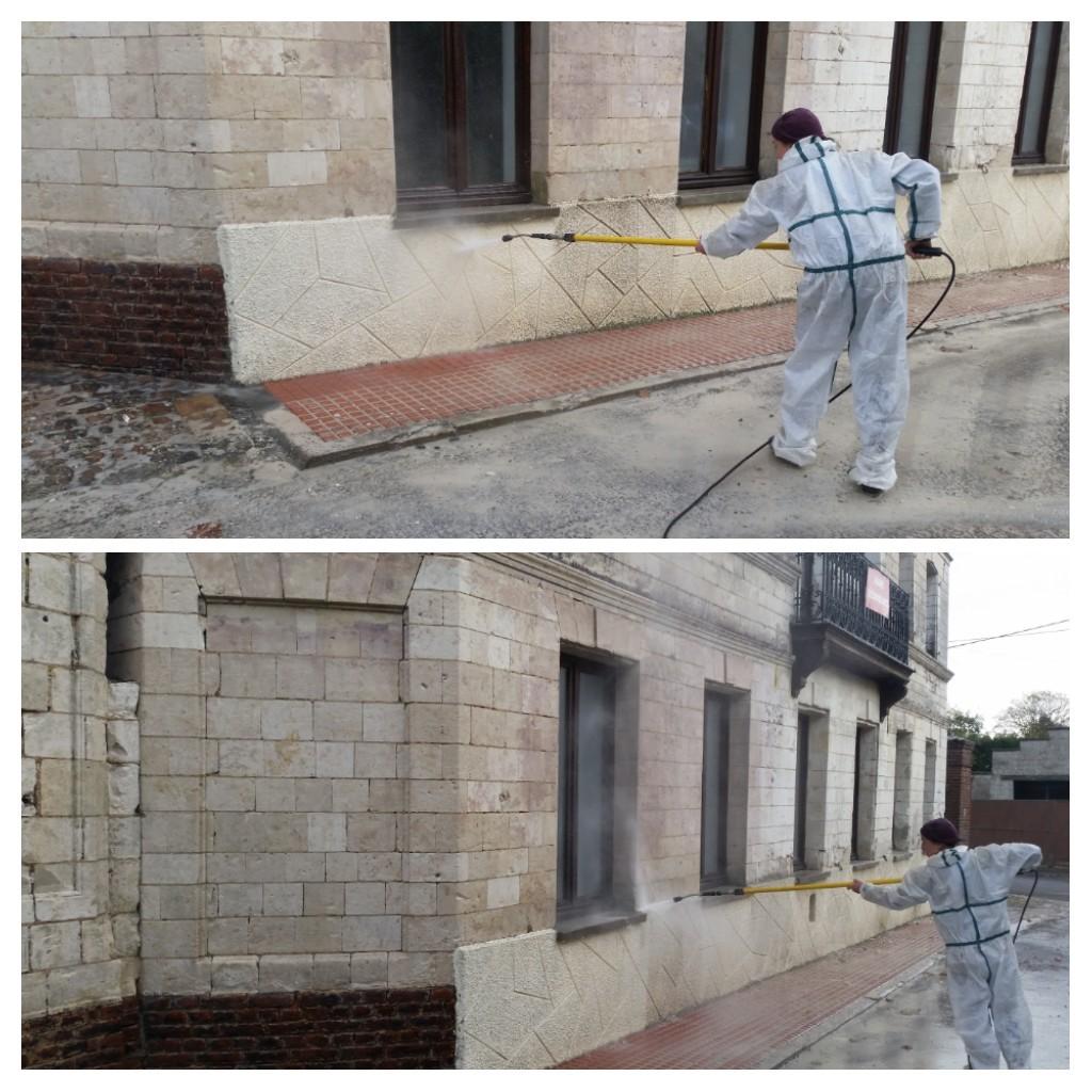 lavage façade haute pression